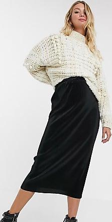 Asos Maternity ASOS DESIGN Maternity plisse midi column skirt in black