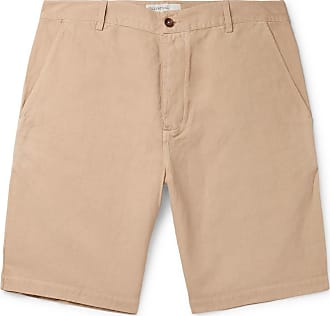 Universal Works Linen And Cotton-blend Canvas Shorts - Sand