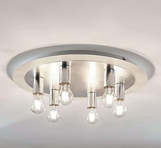 Lindby Lámpara de techo de metal Justik, 6 luces, blanco