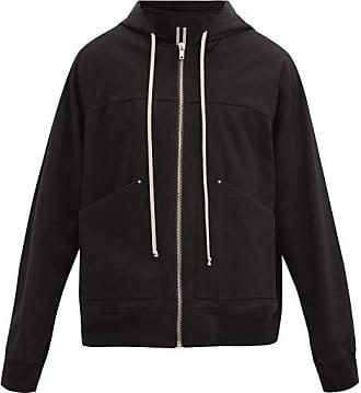 Rick Owens Patch-pocket Cotton-jersey Hooded Sweatshirt - Mens - Black