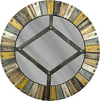 Sagebrook Home WW10207 Wooden Mirror, Multi Wood, 31.75 x 3.25 x 31.75 Inches