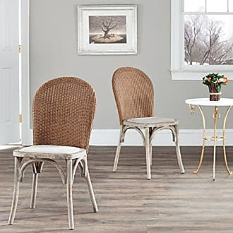 Safavieh Mercer Collection Sharon Finish Taupe Side Chairs, Antique Oak, Set of 2