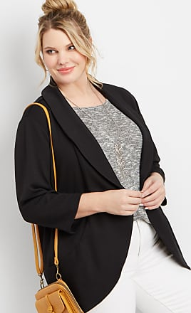 Maurices Plus Size - Black Open Front Pocket Blazer