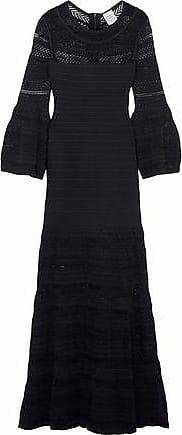 e74cae3ded Hérve Léger Hervé Léger Woman Crochet Knit-paneled Bandage Gown Black Size  XS
