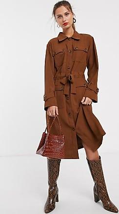 Unique21 Unqiue21 long sleeve utility dress-Brown