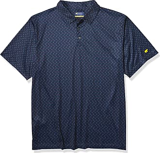 Jack Nicklaus Mens Short Sleeve Allover Print Polo Shirt