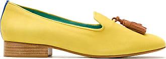 Blue Bird Shoes Loafer Dirham em couro - Amarelo