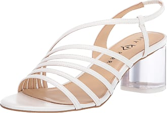 Katy Perry Womens The Russ Heeled Sandal, White, 7.5