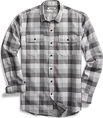 Mens Long Sleeve Flannel Plaid Checkered Button Down Casual Dress Shirts Green3 X-Large