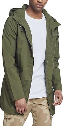Urban Classics Mens Summer Jacket Light Cotton Parka - Color darkolive, Size S