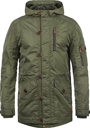 Blend Luxus Mens Parka Outdoor Jacket with Hood, Size:M, Colour:Jungle Green (77196)