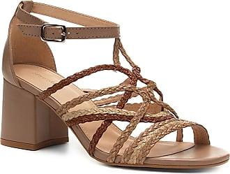 b2aa714961 Shoestock Sandália Couro Shoestock Salto Bloco Tranças - Feminino