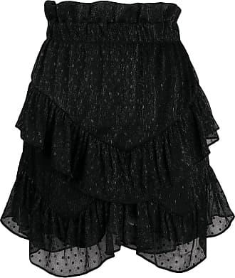 Iro ruffle embroidered skirt - Black