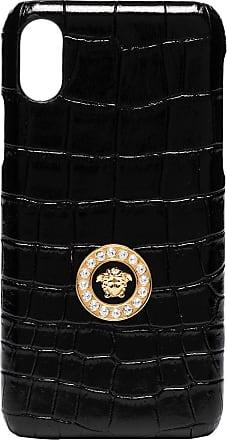 Versace Capa para iPhone X com logo Medusa - Preto