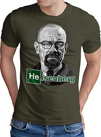 OM3 Heisenberg - T-Shirt Inked Ikons Crystal Meth Cook Weed Kush USA Geek Fun, 4XL, Olive