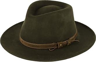 Hat To Socks Khaki Wool Fedora Hat with Leather Belt Waterproof & Crushable Handmade in Italy