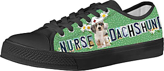 Coloranimal Nurse Low-top Casual Shoes Women Trainer Gym Sport Running Canvas Walking Footwear Classic Korean Hiking Vulcanize Flats Kawaii Dachshund Dog Print EU