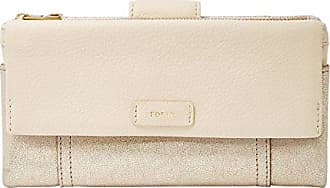 aa65134f601c6 Fossil Geldbörse ELLIS Clutch Creme Gold SL7605-751 Damen Portemonnaies  Leder