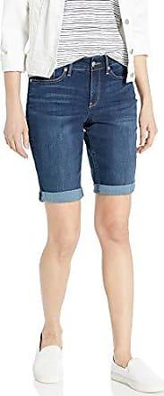 junipero NYDJ Womens Petite Briella Roll Cuff Jean Short in Cool Embrace Denim 0P