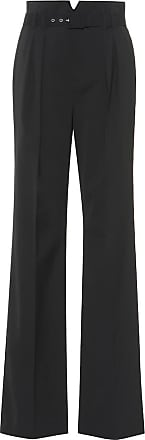 Red Valentino High-rise wide-leg wool-blend pants
