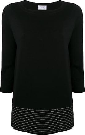 Snobby Sheep Blusa de tricô com aplicação de paetês - Preto