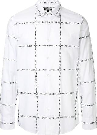 Loveless Camisa slim com logo - Branco