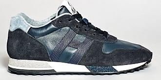 Hogan sneakers in pelle e camoscio blu