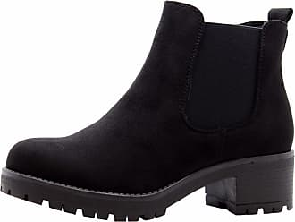 Saute Styles Ladies Womens Block Chunky Heels Chelsea Ankle Boots Grip Sole Office Shoes Size 5