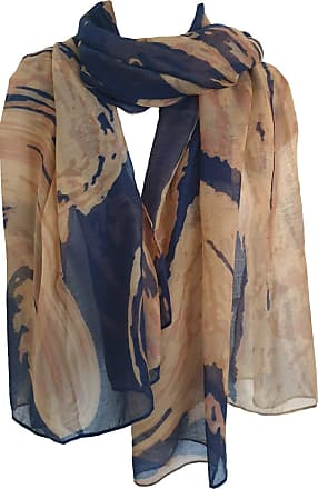 GlamLondon Marble Pattern Scarf Large Size Fashionable Marbled Printed Women Multi Purpose Wrap (Z-New- Blue)