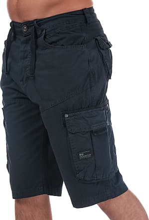 Crosshatch Mens Black Label Mens Chaseforth Cargo Shorts in Navy - 30R