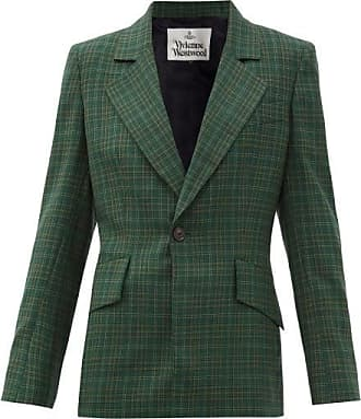 Vivienne Westwood Tartan-check Wool-twill Suit Jacket - Womens - Green