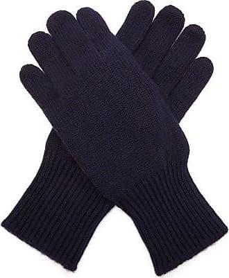 Brunello Cucinelli Cashmere And Suede Gloves - Mens - Navy