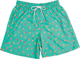 Mash Short Bermuda Estampado Verde Liso Com Bolso Mash Moda Praia Com Elástico Verão Oferta
