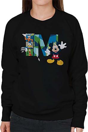 Disney Mickey Mouse Goofy Donald Duck and Pluto Womens Sweatshirt Black