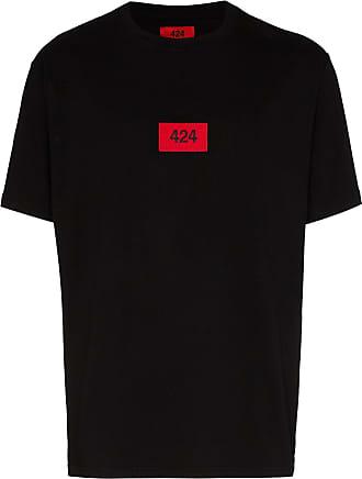424 T-Shirt mit Logo-Print - Schwarz