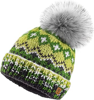 morefaz Women Men Indians Style Winter Beanie Hat Knitted Fleece Lining Pom Pom Ski Hats (Design 9)