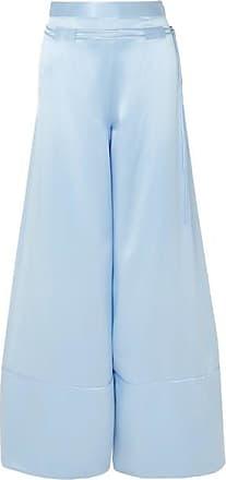 29ba61ebf6556b Hellessy Rawlings Belted Silk-satin Wide-leg Pants - Light blue