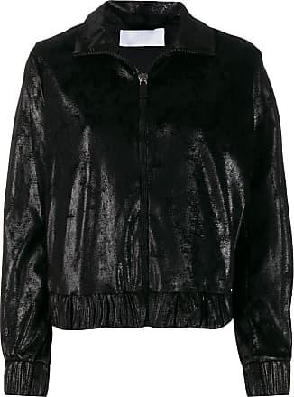 No Ka'Oi Giacca metallizzata con zip - Di colore nero