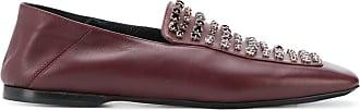 Fabiana Filippi crystal-embellished loafers - Red