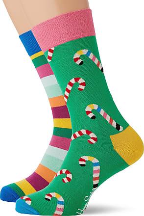Happy Socks Mens Christmas Cracker Candy Cane Gift Box Socks, Multicolour (Multicolour 730), 7-10 (Size:41-46)