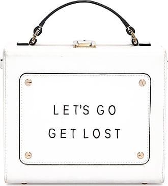 Meli Melo Meli Melo Art Bag White Lets go get lost Olivia Steele Bag for Women