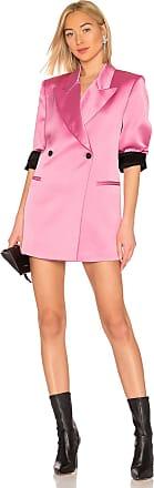 Msgm Satin Blazer Dress in Pink