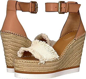 See By Chloé SB28152 (Natural Canvas/Calf) Womens Wedge Shoes