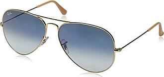 Ray-Ban AVIATOR LARGE METAL - GOLD Frame CRYSTAL GRADIENT LIGHT BLUE Lenses  58mm Non 0ae76dcd59f2