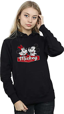 Absolute Cult Disney Womens Mickie and Minnie 90 Years Hoodie Black XX-Large