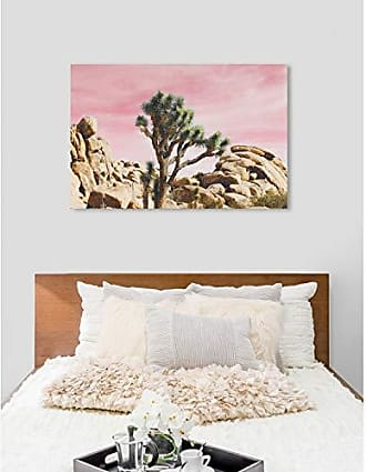 The Oliver Gal Artist Co. The Oliver Gal Artist Co. Oliver Gal Joshua Tree Pink Landscape and Nature Wall Art Print Premium Canvas 60 x 40