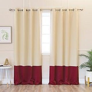 VHC Brands 25378 Carson Star Scalloped Panel Set of 2 84x40