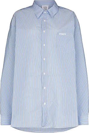 VETEMENTS Camisa oversized de algodão com acabamento engomado - Branco