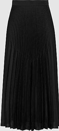 Reiss Dora - Pleated Midi Skirt in Black, Womens, Size 14