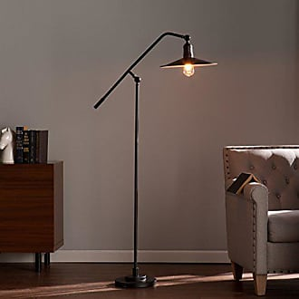 Southern Enterprises Valetta Floor Lamp, Matte Black
